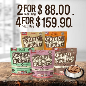 [SALE] Primal Freeze Dried Canine 4 For $159.90