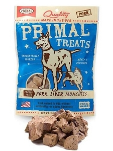 Primal Freeze Dried Pork Liver Munchies Dog & Cat Treats