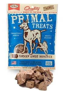 Primal Freeze Dried Turkey Liver Munchies Dog & Cat Treats