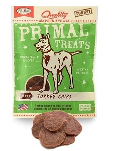 Primal Jerky Turkey Chips Dog Treat