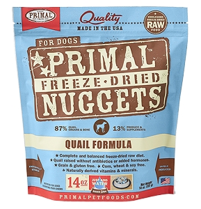 Primal Raw Freeze-Dried Canine Quail Formula