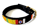 Kenyan Beaded Leather Pet Collar - Circle of Life