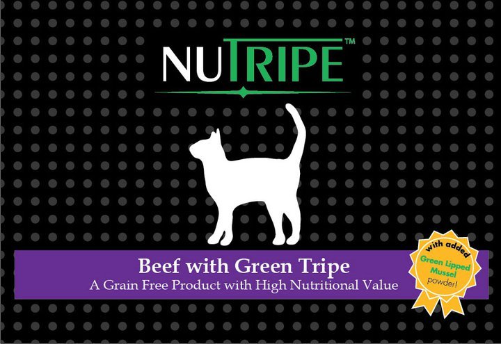 Nutripe Beef with Green tripe cat + GLM