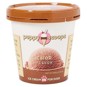 Puppy Scoops Carob Flavour Ice Cream Mix Dog Treats