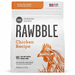 Bixbi Rawbble Freezed Dried Topper Grain Free Chicken Limited Ingredient