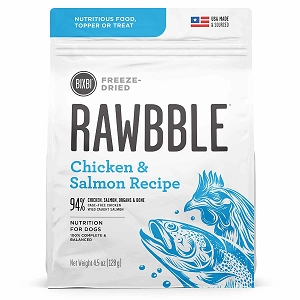 Bixbi Rawbble Freezed Dried Topper Grain Free Chicken & Salmon Limited Ingredient