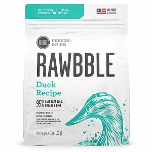 Bixbi Rawbble Freezed Dried Topper Grain Free Duck Limited Ingredient