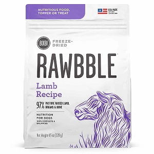 Bixbi Rawbble Freezed Dried Topper Grain Free Lamb Limited Ingredient