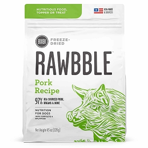 Bixbi Rawbble Freezed Dried Topper Grain Free Pork Limited Ingredient