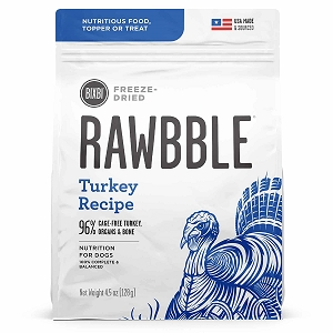 Bixbi Rawbble Freezed Dried Topper Grain Free Turkey Limited Ingredient