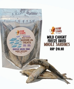 Raw Rawr Freeze Dried Whole Sardines