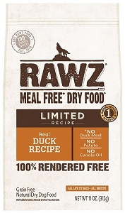 Rawz Meal Free Dry Dog Food - Limited Recipe Real Duck