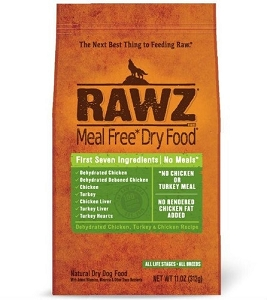 Rawz Meal Free Dry Food Dehydrated Chicken,Turkey & Chicken Recipe Dry Dog Food