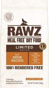 Rawz Meal Free Dry Food Limited Real Duck Recipe Dry Dog Food