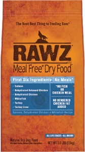 Rawz Meal Free Dry Food Salmon, Dehydrated Chicken & WhiteFish Recipe Dry Dog Food