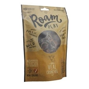 Roam Play 100% Veal Crunchies Air Dried Dog Treats 150gm