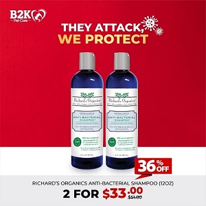 [HYGIENE CAMPAIGN] Richard's Organics Anti-Bacterial Shampoo 2 For $33