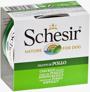 Schesir Dog Can Chicken Fillets 150g