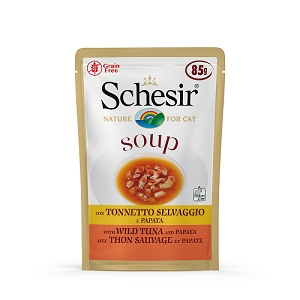 Schesir Cat Pouch Soup Wild Tuna and Papaya 85g