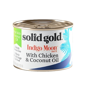 Solid Gold Indigo Moon Canned Cat Food Chicken & Coconut Oil 6oz