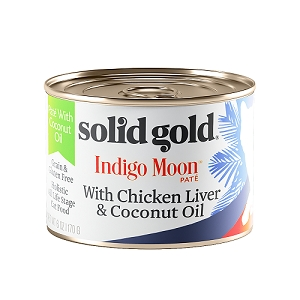 Solid Gold Indigo Moon Canned Cat Food Chicken Liver & Coconut Oil 6oz