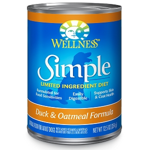 Wellness Simple Food Solutions Canned Dog Duck & Oatmeal Allergy Formulas