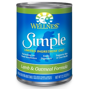 Wellness Simple Food Solutions Canned Dog Lamb & Oatmeal Allergy Formula