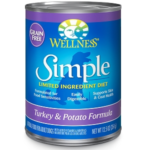 Wellness Simple Food Solutions Canned Dog Turkey & Potato Allergy Formula