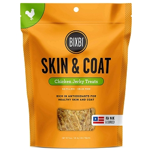 Bixbi Skin & Coat Jerky Grain Free Dehydrated Dog Treats