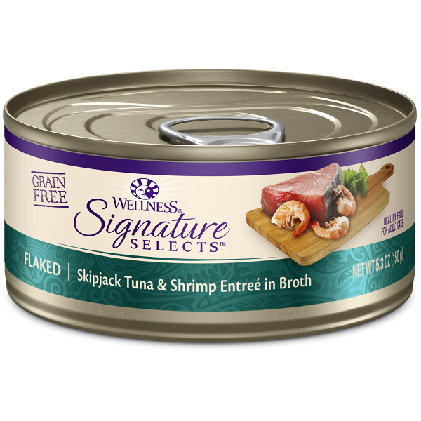 Wellness Cat Canned Core Signature Select Flaked Tuna & Shrimp