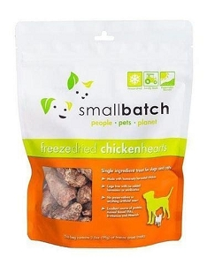 Small Batch Freeze Dried Chicken Hearts Cat & Dog Treat 3.5oz