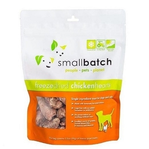 Small Batch Freeze Dried Chicken Hearts Cat & Dog Treats 3.5oz