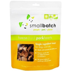 Small Batch Freeze Dried Pork Hearts Cat & Dog Treat 3.5oz