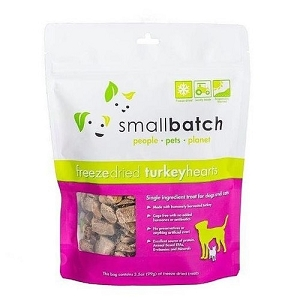 Small Batch Freeze Dried Turkey Hearts Cat & Dog Treat 3.5oz