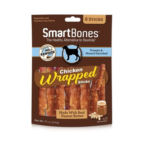 SmartBones Chicken-Wrapped Sticks with Peanut Butter Dog Chew