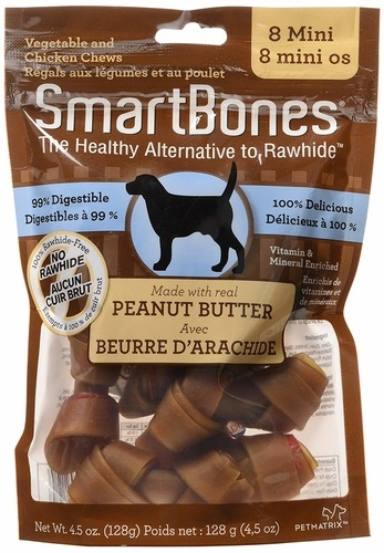 SmartBones Mini Rawhide Free Dog Chews 8pcs