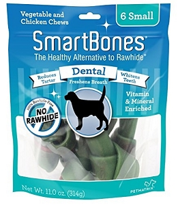 SmartBones Rawhide Free Dental Dog Chews 3pack