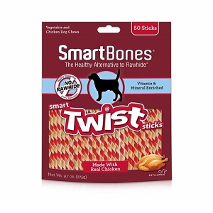 SmartBones Rawhide Free Smart Twist Sticks Dog Chews
