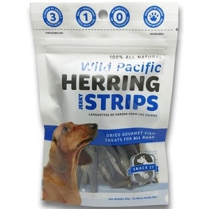 Snack 21 Wild Pacific Herring Jerky Strips Dog Treats