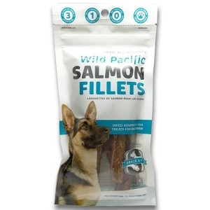 Snack 21 Wild Pacific Salmon Fillets Dog Treats