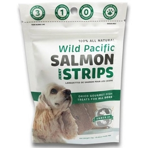 Snack 21 Wild Pacific Salmon Jerky Strips Dog Treats
