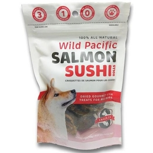 Snack 21 Wild Pacific Salmon Sushi Rolls Dog Treats