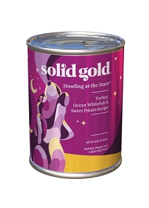 Solid Gold Howling at the Stars Canned Turkey, Ocean Whitefish & Sweet Potato Recipe
