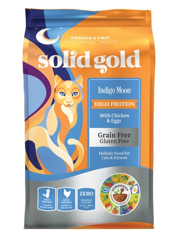 Solid Gold Indigo Moon® With Grain & Gluten Free Chicken & Egg Dry Cat Food