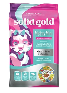 Solid Gold Mighty Mini™ With Grain & Gluten Free Salmon, Lentil & Green Bean Recipe Dry Dog Food 4lbs