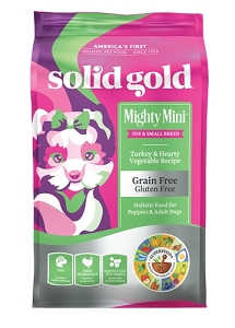 Solid Gold Mighty Mini™ With Grain & Gluten Free Turkey & Vegetables Recipe Dry Dog Food 4lbs