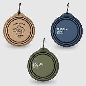 Sputnik Collapsible Travel Bowl Food-Safe Silicone with Carabiner