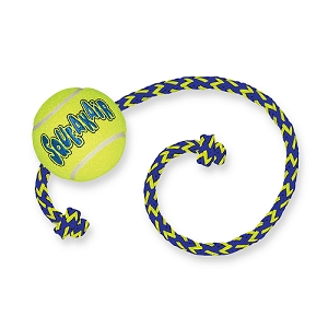 KONG Squeak Air Ball W Rope Dog Toy
