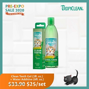 [Pre-Expo 2020 SALE] Tropiclean Clean Teeth Gel + Water Addictive For Cats