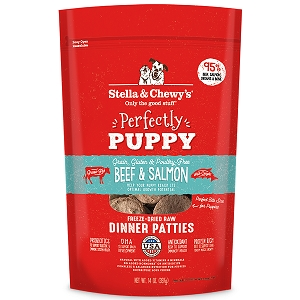 Stella & Chewy's Beef & Salmon Perfectly Puppy Freeze-Dried Dinner Patties